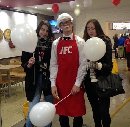промоутер аниматор KFC